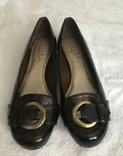 LIFE STRIDE SIZE 6.5 BROWN PATENT LEATHER