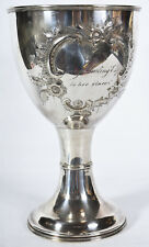 Antique Silver Plate Presentation Chalice Goblet Aster House George Darling Esq.