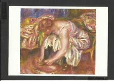 Art Colour Postcard Auguste  Renoir Woman Tying her Shoes unposted