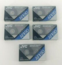 JVC AFII-90 Cassette Tapes (5) Acoustic Fidelity Type II High CRO2 New Sealed