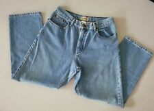 L.L. BEAN Women's Blue Jeans Older and Worn Relaxed 100% Cotton~Size 12 Petite