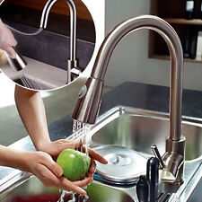 Kitchen Swivel Spout Single Handle Sink Faucet Pull Out Spray Mixer Tap