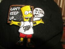 The Simpsons Bart hat baseball cap I can't keep up, I'm out of step man Gym New