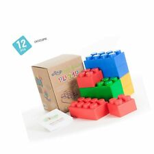 UniPlay Plump Soft Building Blocks — Jumbo Multicolor Stacking Blocks for Cog.