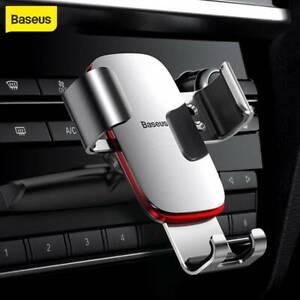 Baseus Aluminum CD Slot Gravity Car Holder Phone Mount For Mobile Phone