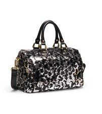 NEW Gretchen Christine Brenna Black/Silver Sequin Satchel Bag HIGHLY COLLECTIBLE