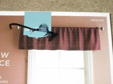 Home curtain valance-sewn strips-purple-54 in X 15 in-new without tags