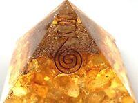 EXTRA LARGE Citrine Orgone Crystal Pyramid EMF Protect Crystal Healing US SELLER