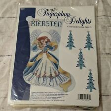 Sugarplum Delights Counted Cross Sttich Stocking Angel with Harp - Kit
