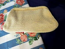 Vintage 1950 - 1960 Corde Bead By Lumured Evening Bag Purse Clutch Exquisite