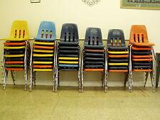 """42 lot Vintage School Desk Chairs chrome plastic Virco Martest 29""""t mid century"""