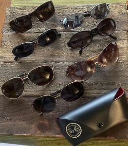 7pc lot eyeglass sunglass frames lenses Coach Safilo Fossil Enzo Angiolini Flirt