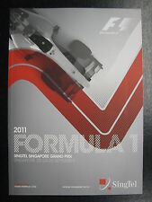 Program 2011 Formula 1 Singtel Singapore Grand Prix 23-25 Sept Singapore (PBE)