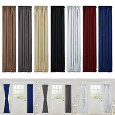 Elegant Room Curtains Rod Pocket Sliding Door Panel Darkening Drapes Blinds