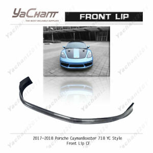 Carbon Splitter For 2017-2018 Porsche Cayman / Boxster 718 YC Front Lip