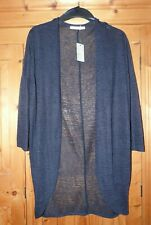 Ladies Navy Striped Long Sheer Cover Up Size 12 GEORGE