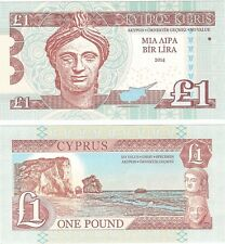 Cyprus 1 Pound 2014 UNC RARE SPECIMEN Test Note Banknote - Rock of Aphrodite