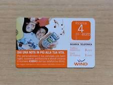 RICARICA TELEFONICA WIND - DAI UNA NOTA IN PIU' ALLA TUA VITA - 4 EURO