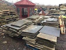 """Reclaimed 2"""" Thick York Stone Paving Flagstones,  150 Sq Yards Available. London"""