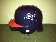 GRADY SIZEMORE Cleveland Indians SIGNED Mini Helmet w/ COA