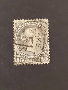 Canada #30 SOTN Nanticoke No 13 99 squared circle cancel on 15¢ Large Queen