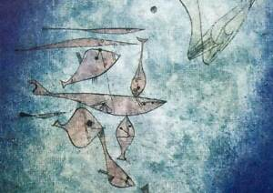 """Paul Klee Lithograph """"Fischbild(Fish Image)"""" Limited Ed. w/Frame Included"""