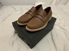 Coach Men Manhattan Leather Loafer Dark Saddle Size 9 G6Hd