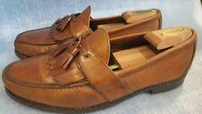 Allen Edmonds Enfield Brown Leather Kiltie Tassel Loafers slip on US Size 10.5 E