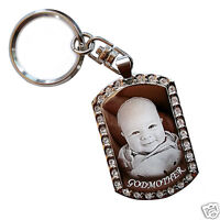 Personalised Polished Silver Keyring Keychain PHOTO ENGRAVED FREE P&P Great Gift