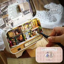 Wooden Dolls house DIY Mini Model Kit LED Light Furnitures Toys Craft Kids Gift