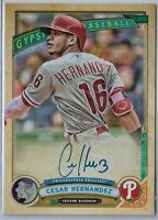 2019 Gypsy Queen baseball Cesar Hernandez LOGO SWAP AUTO Philadelphia Phillies