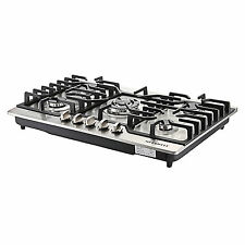 "METAWELL 30"" Stainless Steel 5 Burner Built-in Stoves LPG/NG Gas Cooktops Cooker"