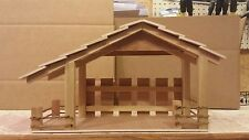 Handmade Wooden Christmas Manger,Stable,Nativity with Light