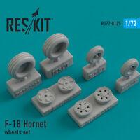 Reskit RS72-0125 - 1/72 – Resin wheels set F-18 Hornet Resin Detail