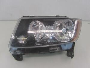 12-17 JEEP COMPASS Left Headlight Headlamp w/o Projector Black Bezel 68171215AA