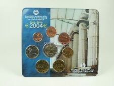 *** EURO KMS GRIECHENLAND 2004 BU m. 2 € Münze Stier RARITÄT ! Kursmünzensatz **