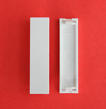 "2 x Euro-Style 12.5mm x 50mm Quarter Blanks in White ""BRAND NEW!"""