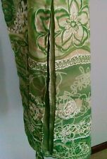 B. Moss Tailor Women's Size 6 Maxi Green/White/Tan Floral Lined Side Slit Skirt