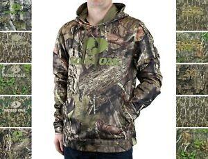 Dark Gray Size M L /& XL Mossy Oak Men/'s Camo Hoodie Pullover