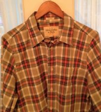 Abercrombie and Fitch Muscle Shirt - Sz XL - Men's - Plaid - Button Front L/S