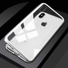 Magnética adsorción metal Vidrio templado funda para i Phone 7 8 plus X &Samsung