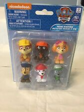 Nick Jr Paw Patrol Mini Figure Rescue Team Set of 6 Figurines NEW Free Shipping
