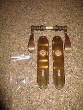 Türbeschlag - Zimmertürbeschlag - Messing brüniert - antik - 72mm - Buntbart