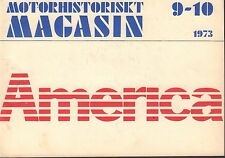 Motorhistoriskt Magasin Swedish Car Magazine 9-10 1973 America 032717nonDBE