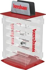 Kershaw Two Side Spinner Display With 12 Clear Acrylic Shelves Hinged Doors