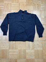 Men's PRONTO UOMO 100% Extra Fine Merino Wool 1/4 Zip Pullover Sweater, Size XL