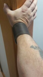 175mm-195mm dark brown leather x1 cuff lined #144