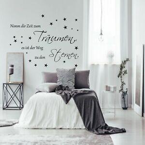 Wandtattoo AA1001 Nimm dir Zeit zum Träumen ...Schlafzimmer Spruch Wandsticker +