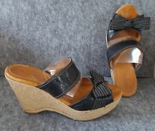 NAYA Black Platform Wedge Sandal - 10M | Gently worn, Comfortable