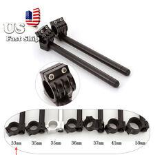 CNC Motorcycle Handlebars Clip Ons Fork Universal Aluminum Bars 33mm US Shipping